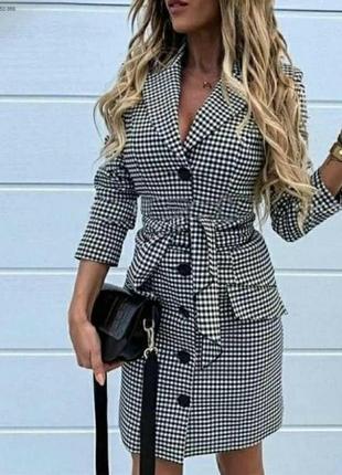 Сукня жіноча стильна гусина лапка 36-70 розміри