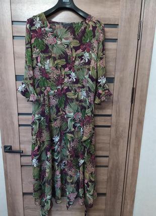 Красивое, длинное платье в цветах m&s