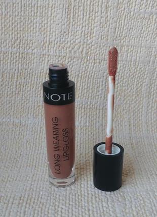 Блеск для губ note long wearing lipgloss тон 07 cocoa cream