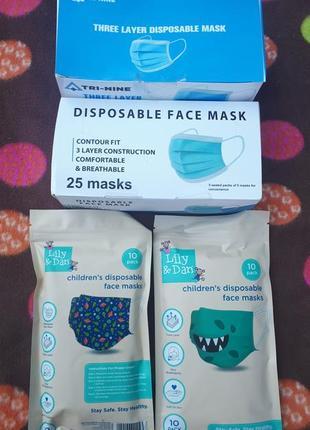 😷одноразові маски одноразовые маски детские маски дитячі маски