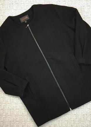 Полушерстяное пальто mango оверсайз, oversize на подкладке и молнии