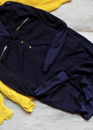 Платье-рубашка h&m с ткани по типу шелка