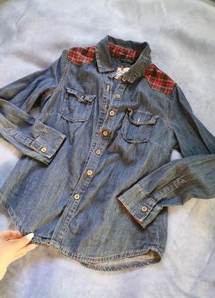 Сорочка рубашка джинсова