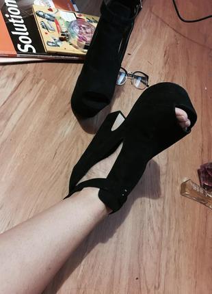 Красивые босоножки/туфли на платформе на толстом высоком каблуке