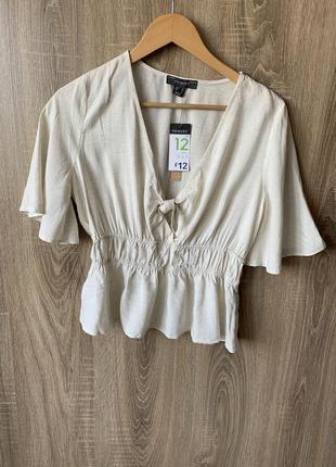 Блуза лен+віскоза