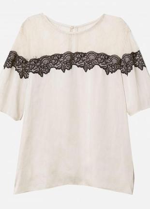 Новая блуза с кружевом h&m