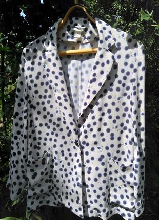 Красивый пиджак свободного кроя колобрация h&m & anna glover (100% вискоза)