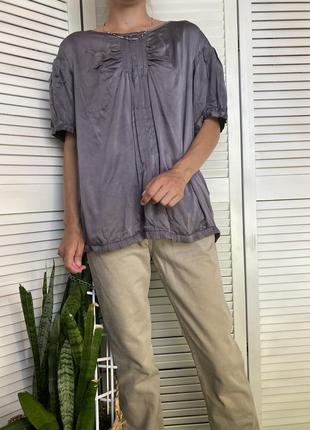 Шёлковая блуза красивого графитового цвета inwear
