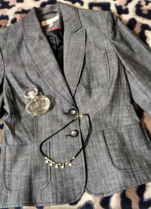 Стильный деловой пиджак красивого серого цвета от she р. 38