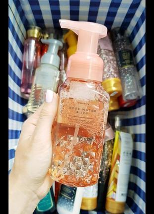 Пенка для рук bath&body works rose water&ivy мыло