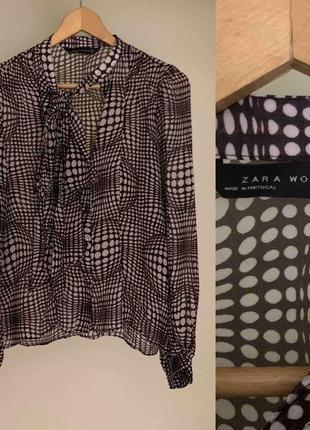 Блузка zara с завязкой!