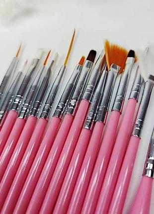 Набор кистей кисти для маникюра росписи дизайна ногтей 15 шт