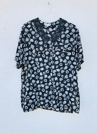 Винтажная блуза из натуральной ткани батал