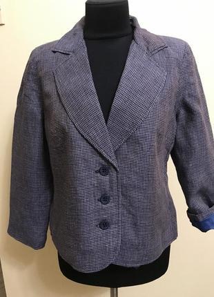 Пиджак из льна большого размера