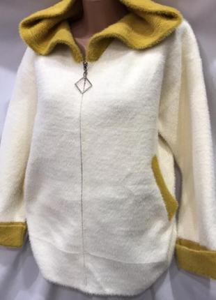 Пальтишко, куртка  с капюшоном,  альпака,  универсал  46-52