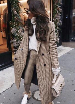 Пальто в клітинку пальто в клетку пальто в гусиную лапку