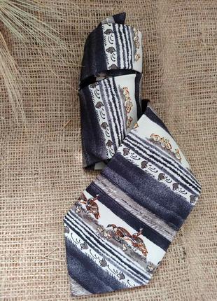Стильный неординарный шелковый галстук