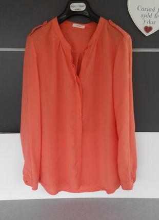Легенька блузка коралового кольору; opus; l