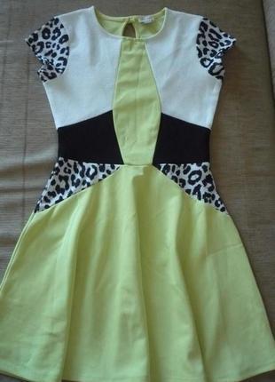Красивое и яркое платье 150-160 сток
