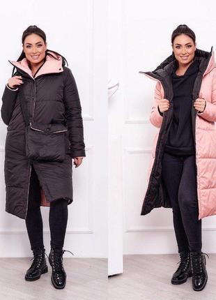 Куртка-пальто зимняя двусторонняя.