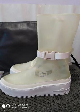 Кроссовки ботинки nike af1 sage hi lx boot clear w/carry bag bq 4805-001