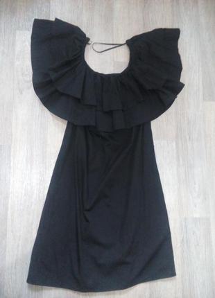 Платье с воланами мка.