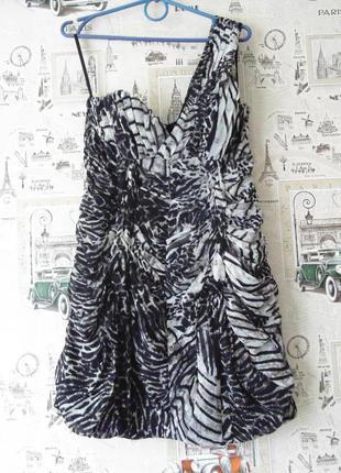 Шикарное шифоновое платье h&m, размер 8