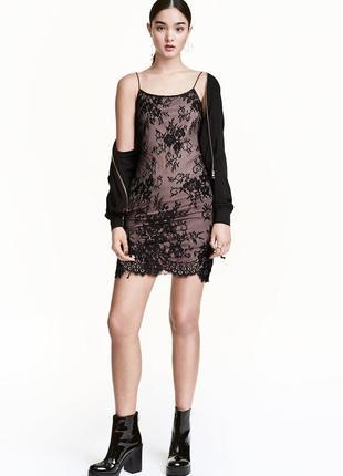 Кружевное платье. h&m. xs. s. m. новое.
