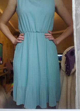 Платье базовое миди плиссе