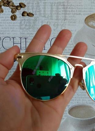 Солнцезащитные зеркальные очки женские / модные оттенки роскошное покрытие. italy design