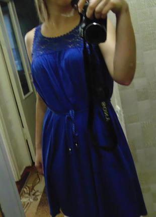 Платье с кружевом h&m, размер s