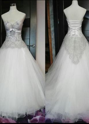 Дизайнерська весільна сукня від tanya grig + кільця в подарунок