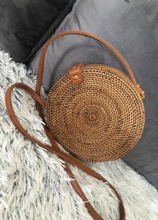 Плетёная сумка из ротанга клатч сумочка из соломы