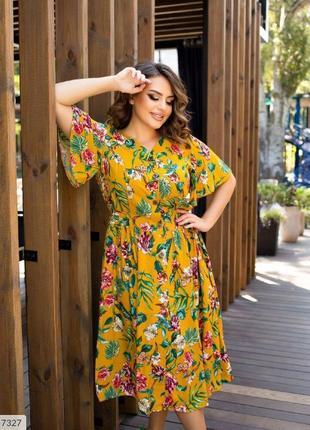 Красивое и нежное летнее платье в цветочный принт