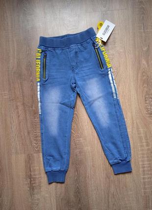Спортивные хлопковые брюки под джинс