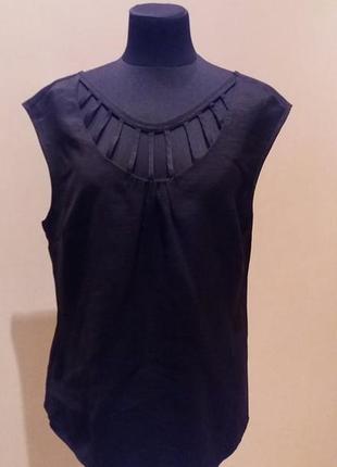 Брендовая очень классная вискоза блуза кофта  laura ashley раз.10-12(пог до51)
