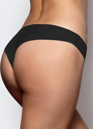 Женские нейлоновые трусики бразилиана чёрного цвета atlantic 2blp 052