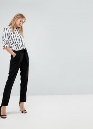 Стильные брюки uk 10 s-m черные