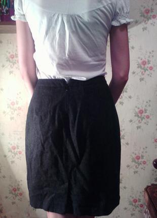 Шерстяная юбка2 фото