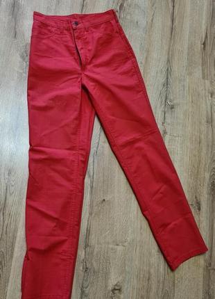 Штаны красные брюки