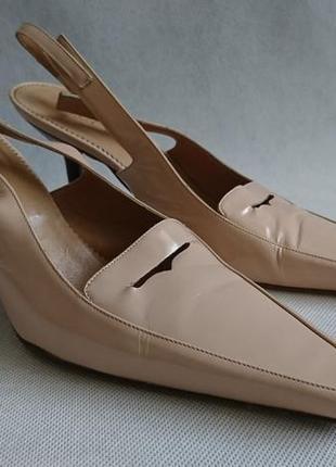 Туфли босоножки кожаные gucci оригинал размер 38