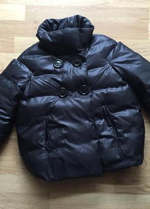 Супер куртка пуховик пух benetton на 6-7 лет (120 см)