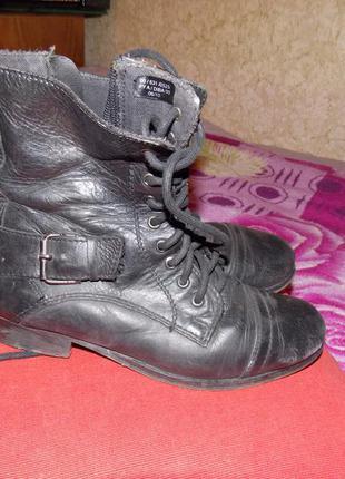 Кожаные ботинки выше щиколотки с пряжками