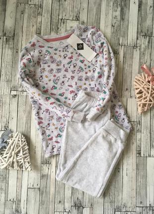 Тёплая велюровая пижамка, tex, 4-5 лет (110 см), 5-6 лет (116 см)