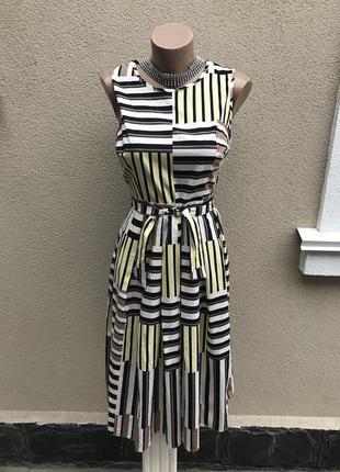 Красивое,летнее платье в полоску,сарафан под пояс,открытая спинка,хлопок, dorothy perkins
