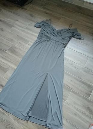 Нарядное платье полиэстер вечерние размер 48 50