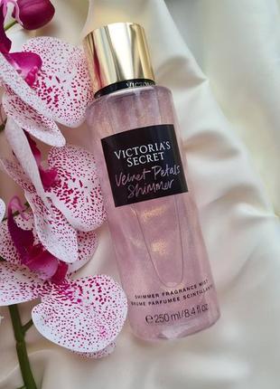 Мист для тела с шиммером блестками виктория сикрет victoria's secret velvet petals