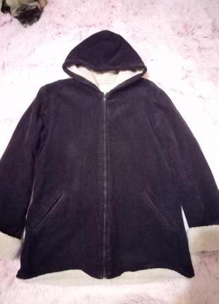 Вельветовая куртка на меху