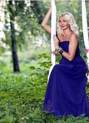 Платье макси в пол
