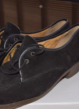 Туфли с мехом внутри замшевые р.41 стелька 26-26,5 см damart германия идеал